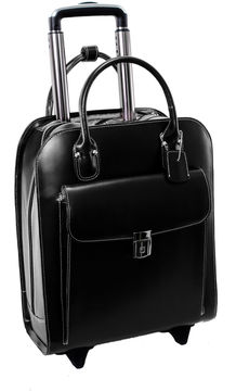 Mcklein McKleinUSA Uptown 15.4 Leather Vertical Wheeled Laptop Briefcase