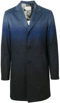 Etro degradé single breasted coat