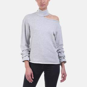 RtA Langley Shoulder Cutout Cotton Sweater