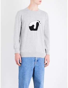 Loewe Panda knitted wool jumper