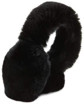Surell Rabbit Fur Earmuffs, Chinchilla