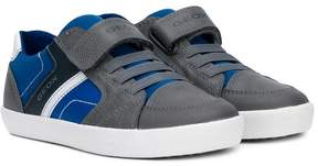 Geox colour block touch strap sneakers