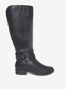 Dorothy Perkins Black 'Tyler' Double Buckle Biker Boots