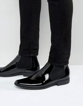 Asos Chelsea Boots in Black Patent