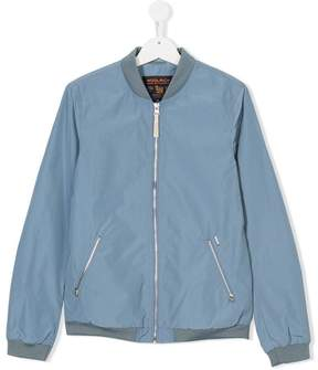 Woolrich Kids TEEN zipped bomber jacket