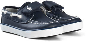 Ralph Lauren Navy Batten Velcro Velcro Boat Shoes