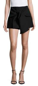 C/Meo Solid Tie-Front Shorts