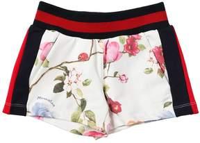 MonnaLisa Floral Print Light Cotton Shorts