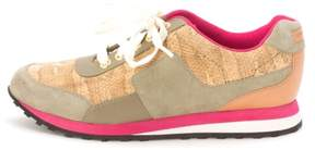Cole Haan Womens Trinesam Low Top Lace Up Green/Brown/Pink/White