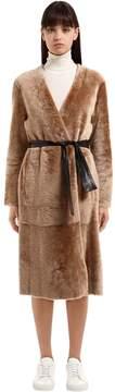 Drome Reversible Shearling Coat W/ Belt
