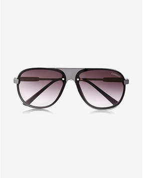 Express matte front shield sunglasses
