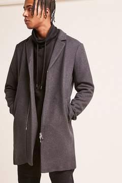 21men 21 MEN Zip-Front Wool-Blend Coat