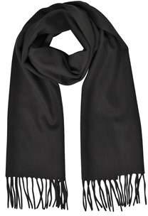 Mila Schon Women's Black Cashmere Scarf.