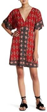 Angie Printed V-Neck Dress