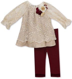 Rare Editions 2-Pc. Embroidered Tunic & Leggings Set, Baby Girls (0-24 months)