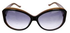 Judith Leiber Jewel-Embellished Gradient Sunglasses