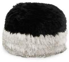 Surell Colorblocked Rabbit Fur Hat