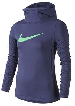 Nike Big Girls' (7-16) Pro Hyperwarm Pullover Hoodie-Bright Navy