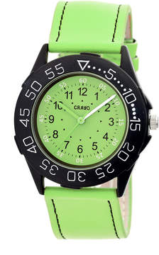 Crayo Womens Fun Mint Leather-Band Watch Cracr2506