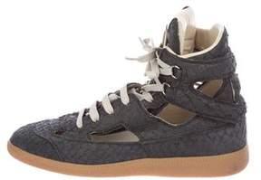 Maison Margiela Embossed High-Top Sneakers