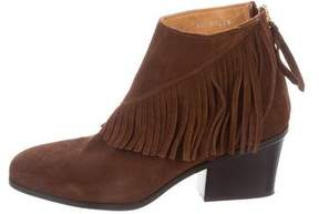 Buttero Suede Fringe Ankle Boots