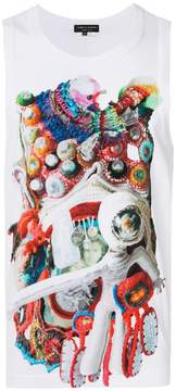 Comme des Garcons printed sleeveless tank top