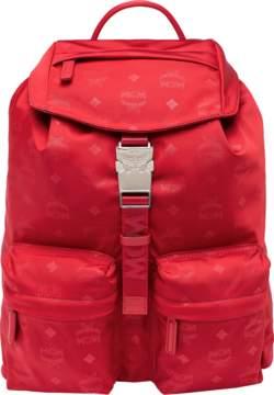 MCM Dieter Two Pocket Backpack In Monogram Nylon