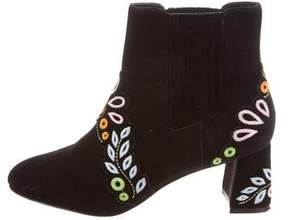 Sophia Webster Embroidered Ankle Boots