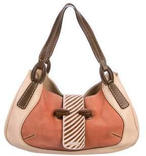 Tod's Leather & Suede Shoulder Bag