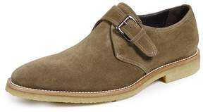 To Boot Baldwin Suede Shoes with Monk Strap & Crepe Sole