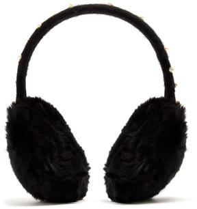 Yves Salomon Fur-trimmed faux-pearl embellished ear muffs