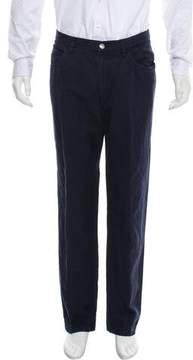 Loro Piana Flat Front Linen-Blend Pants