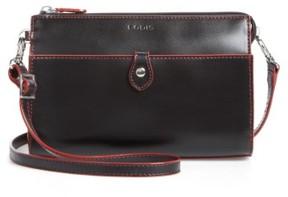 Lodis Audrey Under Lock & Key Vicky Convertible Leather Crossbody Bag - Black