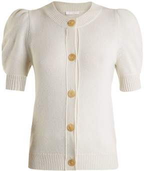Chloé Iconic puff-sleeved cashmere cardigan