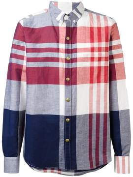 Moncler Gamme Bleu checked long sleeve shirt