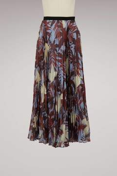 Erdem Nesrine pleated long skirt