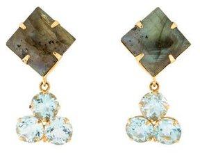 Bounkit Labradorite & Blue Topaz Earrings