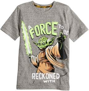 Star Wars A Collection For Kohls Boys 4-7x a Collection for Kohl's A Force To Be Reckoned With Yoda Tee