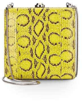 Reed Krakoff Women's Viper Leather-Trimmed Clutch