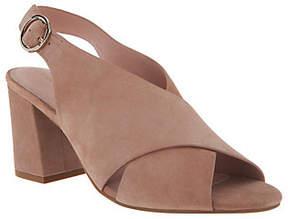 Taryn Rose Suede Block Heeled Sandals -Lenora