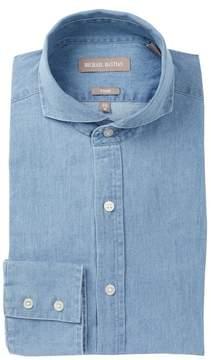 Michael Bastian Chambray Trim Fit Dress Shirt