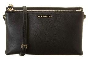 MICHAEL Michael Kors Adele Leather Crossbody. - BLACK - STYLE