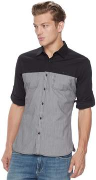 Rock & Republic Men's Colorblock Stretch Button-Down Shirt