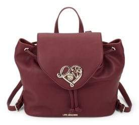 Love Moschino Logo Drawstring Backpack