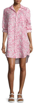 Frank And Eileen Mary Floral-Print Shirtdress, Pink/Multi