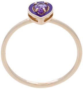 Alison Lou Dearest A amethyst stacking ring