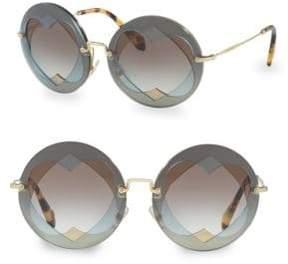 Miu Miu Injected Woman's 62MM Round Sunglasses