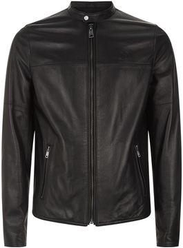 La Martina Leather Motorcycle Jacket