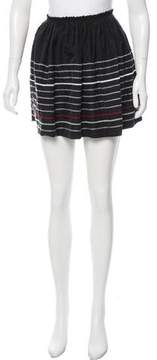 Band Of Outsiders Embroidered Silk Skirt