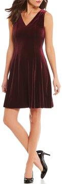 Alex Marie Sasha A-Line Velvet Dress